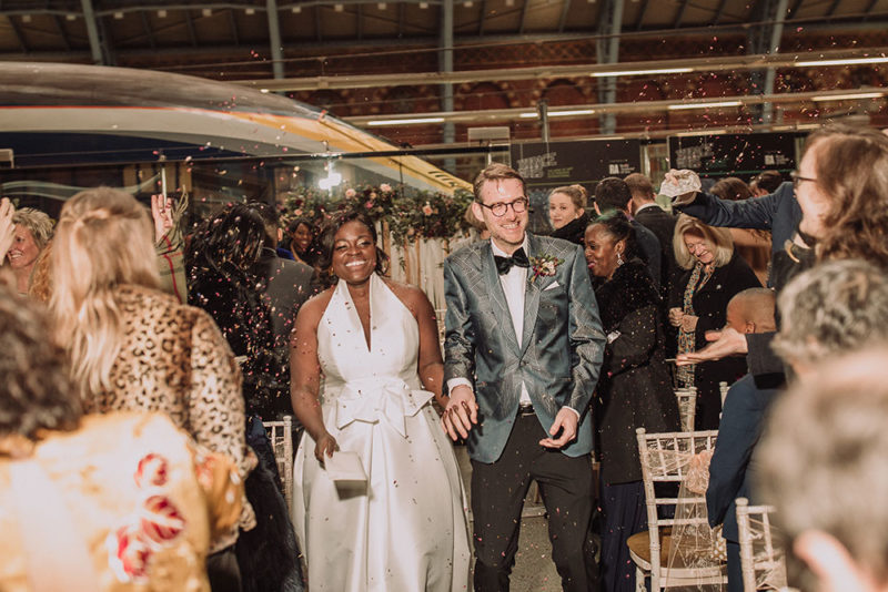 New Years Eve Wedding.Aisha Jesus Peiro London St Pancras New Years Eve Wedding 15