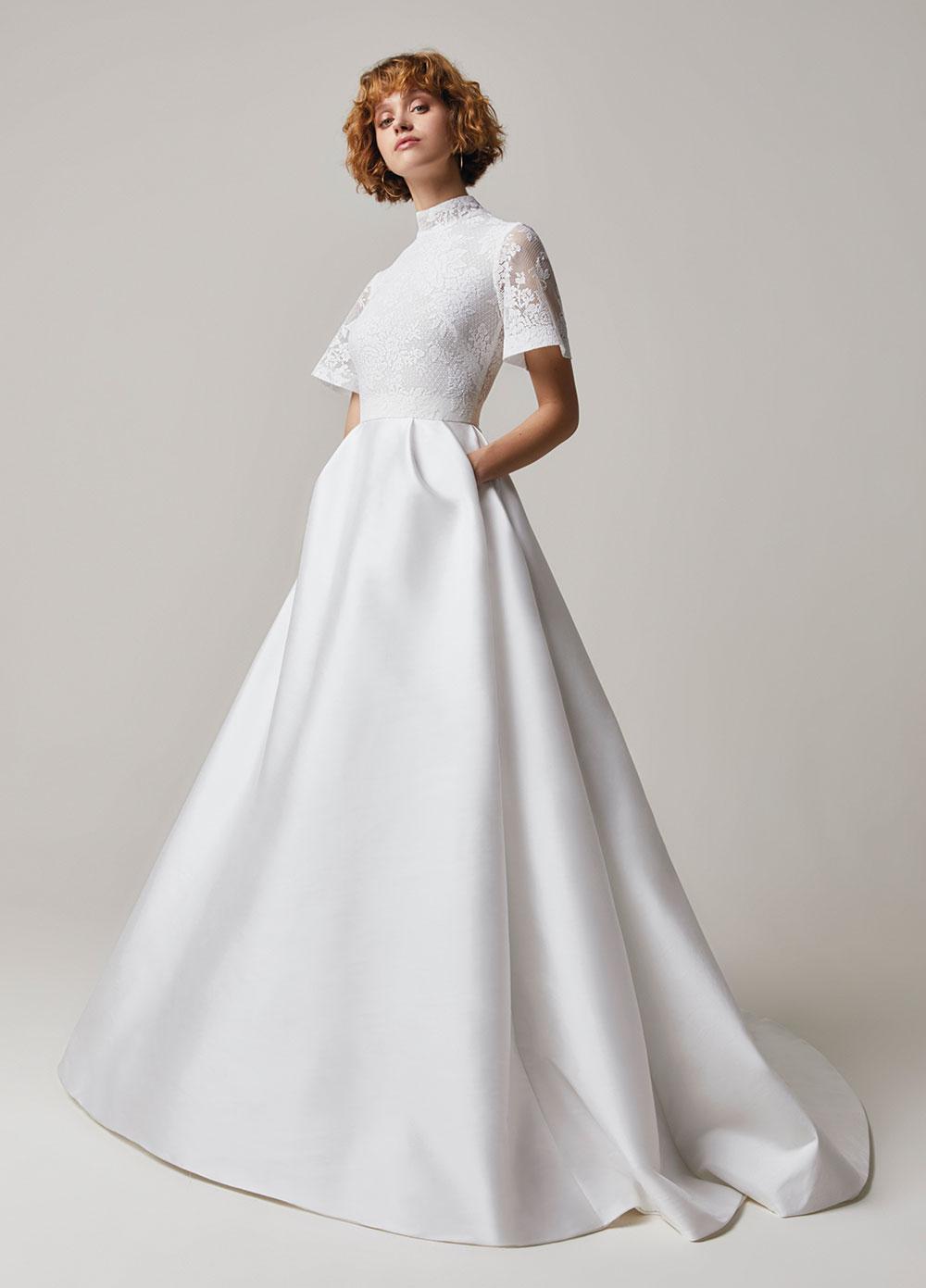 Jesus Peiro 204 wedding dress at Miss Bush, London Surrey UK